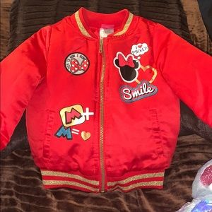 Minnie Mouse Red Disney satin puffer jacket